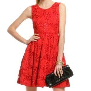 Kate Spade RED CROCHET DRESS